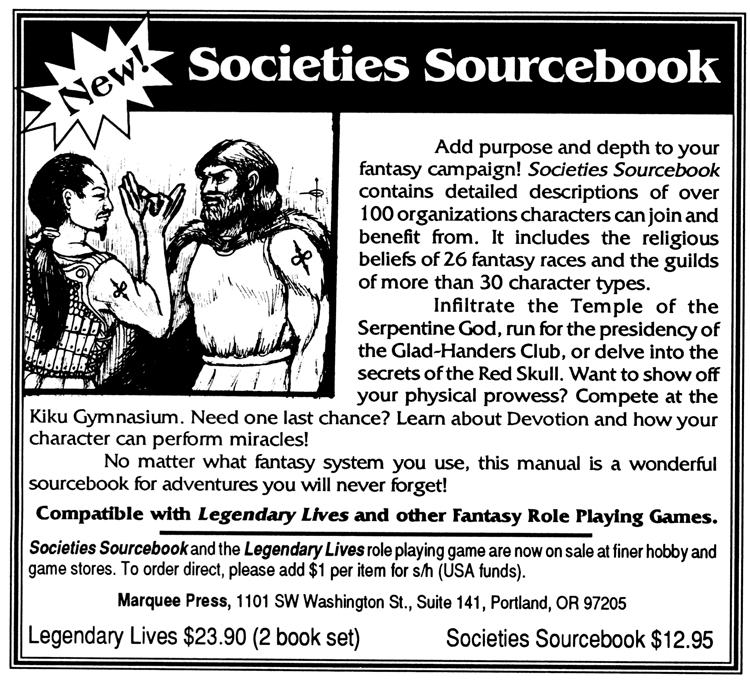 Societies Sourcebook ad