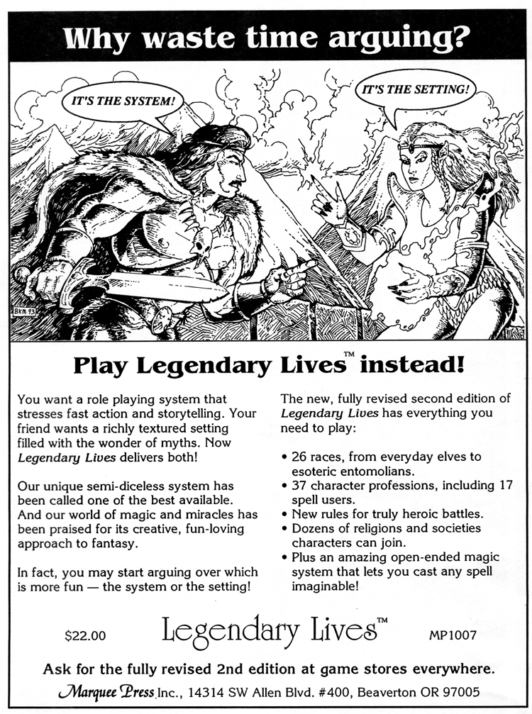 Legendary Lives ad